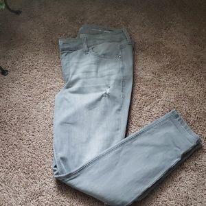 Designer distressed Skinny Jeans